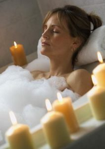 Why dont you take a nice aromatherapy herbal bath night?