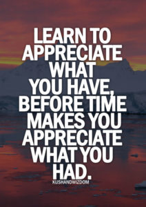 129717 Learn To Appreciate What You Have - Do You Appreciate What You Have?