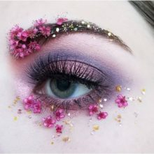Pinkflowermakeup - Beautiful Pink Flowers Eye Makeup How to