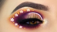 flowereye - Beautiful Pink Flowers Eye Makeup How to