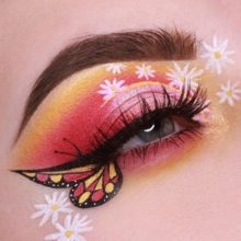 pinkflower - Beautiful Pink Flowers Eye Makeup How to