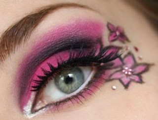 pinkflowereyemakeup - Beautiful Pink Flowers Eye Makeup How to
