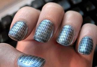 *The Geek In Us Loves These Binary Nails*